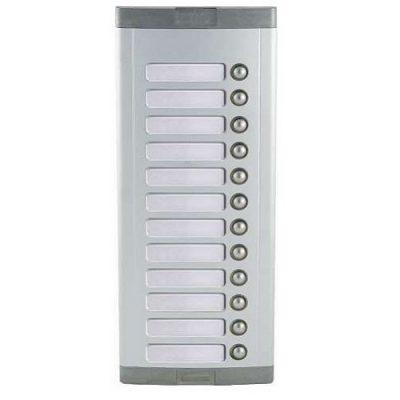 Μπουτονιέρα 12 πλήκτρων για επέκταση κεντρικής μπουτονιέρας Κατάλληλη για συστήματα θυροτηλεφώνων και θυροτηλεόρασης