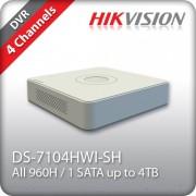 DVR 4 Kαναλιών Hikvision DS-7104HWI-SH
