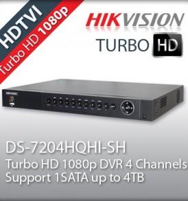 dvr cctv hikvision 4 καμερών DS-7204HQHI-SH