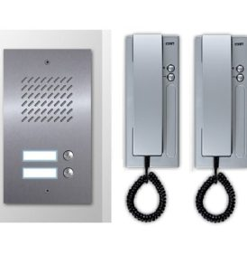 KIT Θυροτηλεφώνων για 2 διαμέρισματα CTC