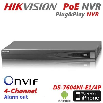 Hikvision DS-7604NI-E1-A alarm