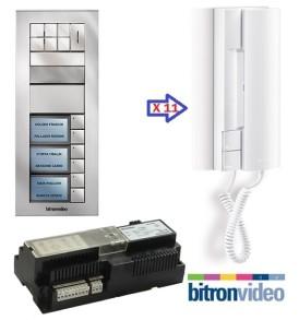 θυροτηλέφωνα 11 διαμερισμάτων Bitronvideo