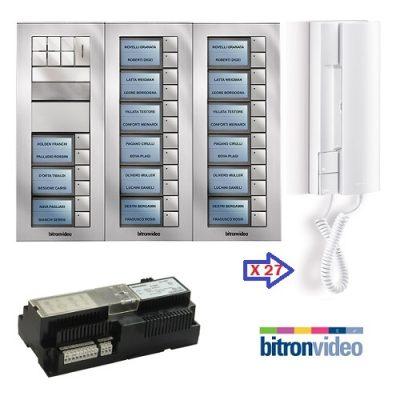 θυροτηλέφωνα 27 διαμερισμάτων Bitron video