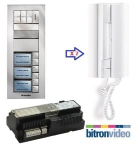 Θυροτηλέφωνα 7 διαμερισμάτων Bitronvideo