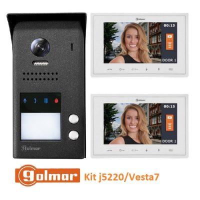 Σετ θυροτηλεόρασης 2 διαμερισμάτων Golmar j5220 vesta7